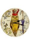 Часы настенные Мистер Сова с зонтиком