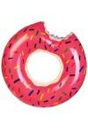 Круг надувной для купания Клубничный пончик
