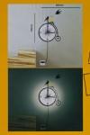 Часы настенные со светильником электр. Велосипед