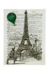 Репродукция Ожившие книги - Полет над Парижем