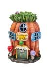 Фигурка садовая с фонарем Морковный домик