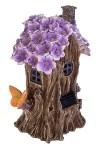 Фигурка садовая с фонарем Фиалковый домик