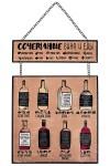 Табличка декоративная Сочетание вина и еды