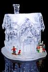 Украшение новогоднее для интерьера светящееся Дом в снегу