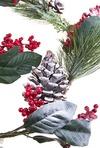 Гирлянда декоративная Шишки с ягодами
