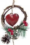 Украшение для интерьера Сердце и венок