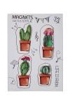 Набор держателей-магнитов Милые кактусы