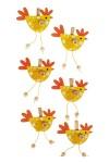 Набор украшений декоративных Яркие петушки
