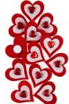Набор сувениров Сердечки со стразами