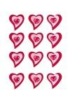 Набор украшений на липучке Объемные сердца