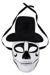 Маска карнавальная для взрослых Череп в шляпе