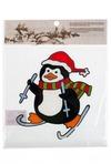 Аппликация новогодняя Пингвин на лыжах