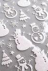 Набор наклеек новогодних Снеговики