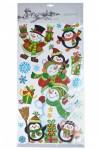 Набор наклеек Снеговики и пингвины