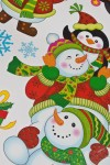 Набор наклеек новогодних Снеговики и пингвины