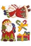 Набор аппликаций новогодних Веселые дедушки