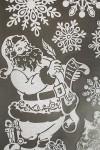 Набор наклеек новогодних Сани с оленями