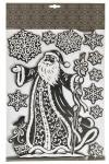 Набор наклеек новогодних Дед Мороз и снежинки