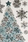 Набор наклеек новогодних Прекрасная елочка