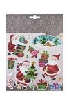 Набор наклеек новогодних Деды Морозы с подарками