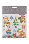 Набор наклеек новогодних Лесные жители