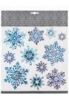 Набор наклеек новогодних Красивые снежинки