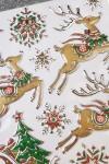 Набор наклеек Волшебные сани Деда Мороза и снежинки