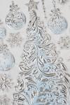 Набор наклеек новогодних Новогодняя елочка с игрушками и снежинки