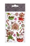 Набор наклеек новогодних Имбирное печенье