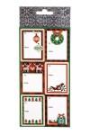 Набор наклеек новогодних Праздничные атрибуты