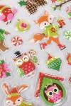 Набор наклеек новогодних Веселые животные