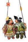 Набор кукол Влюбленные индейцы на качелях