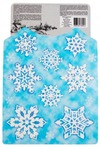 Набор аппликаций новогодних Красивые снежинки