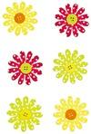 Набор наклеек Разноцветные цветочки
