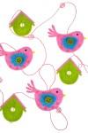 Украшение декоративное Гирлянда из птичек