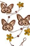 Украшение декоративное Гирлянда из кружевных бабочек