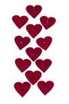 Набор украшений декоративных Знойные сердца