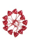 Набор украшений декоративных Сердца в горошек