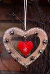 Украшение декор. Сердце с колокольчиками