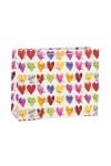 Пакет подарочный Яркие сердечки