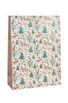 Пакет подарочный новогодний Лесные обитатели