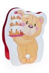 Пакет подарочный Мишка с тортиком
