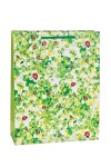 Пакет подарочный Божьи коровки на зеленом