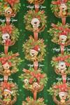 Бумага упаковочная новогодняя Подарки от мишки
