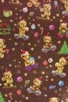Бумага упаковочная новогодняя Праздничные мишки
