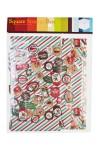 Коробка подарочная новогодняя Новогодние печати