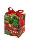 Коробка подарочная новогодняя Праздничные медвежата