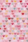 Бумага упаковочная Цветные сердца