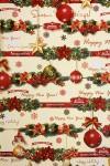 Бумага упаковочная новогодняя Елочные игрушки