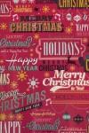 Бумага упаковочная новогодняя Holidays are coming